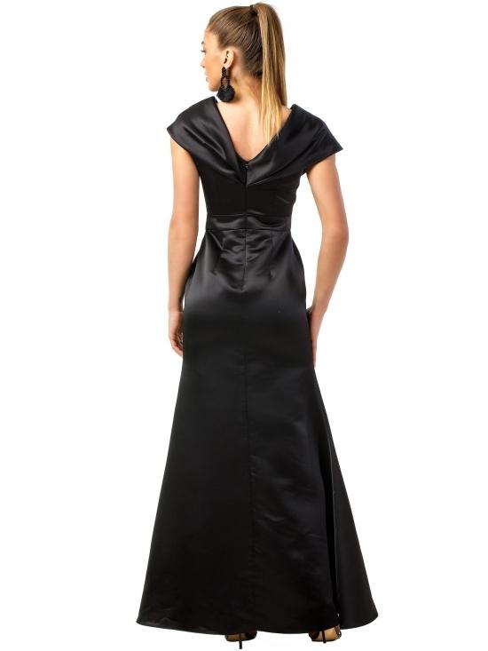 Rochie Beretta neagra din taft satinata #3
