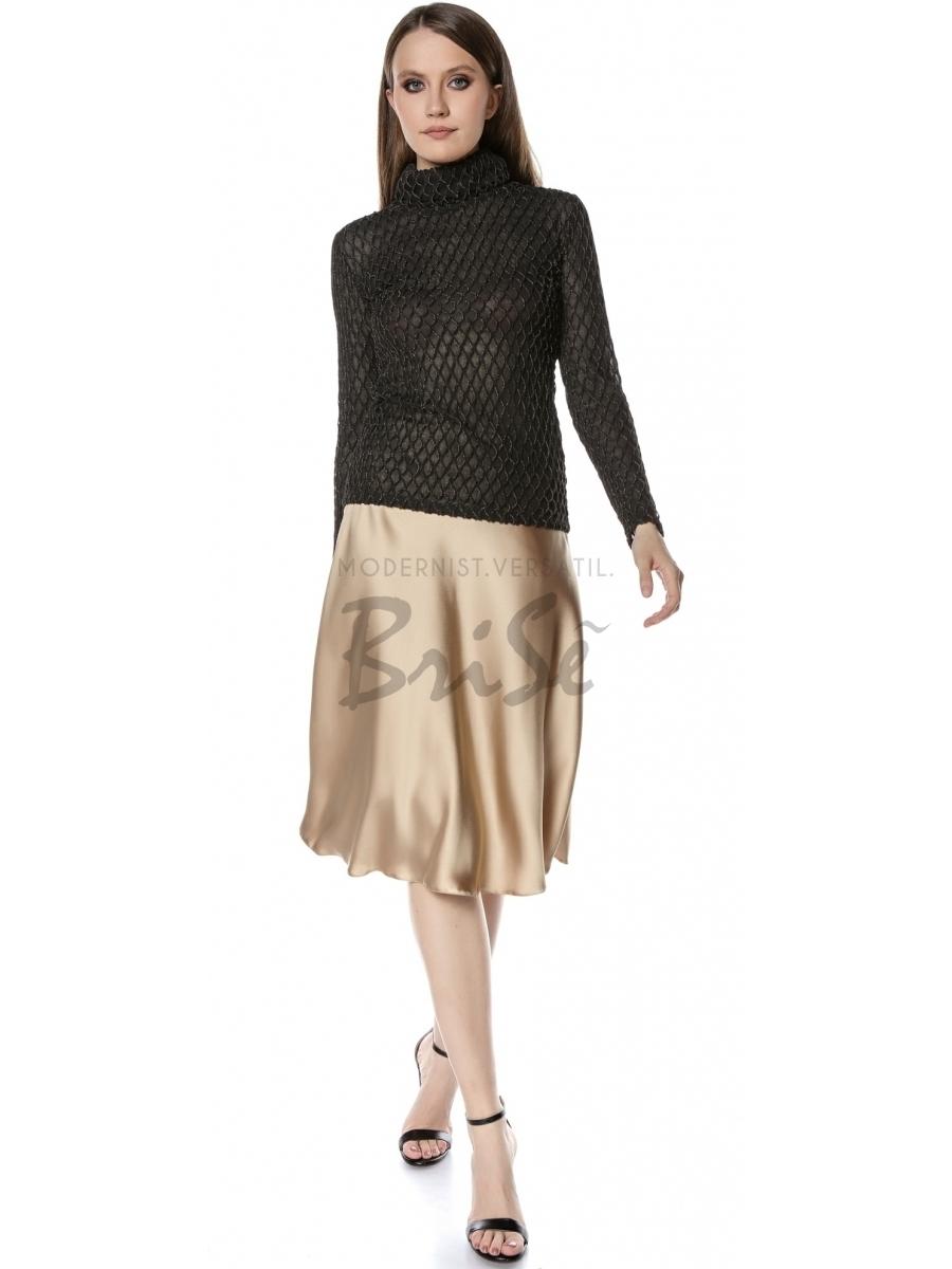Bluza Helena cu maneca lunga din jerse cu plasa lurex