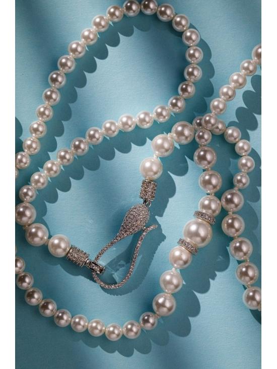 Colier Leonor cu accesoriu argintiu #5