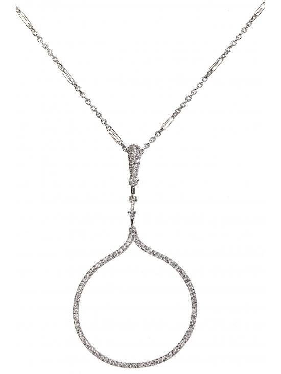 Colier Carolyn cu accesoriu argintiu #2