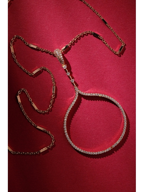 Colier Carolyn cu accesoriu auriu #3