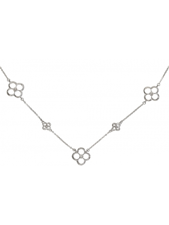 Colier Letizia cu accesoriu argintiu #2