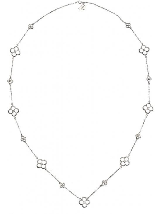 Colier Letizia cu accesoriu argintiu