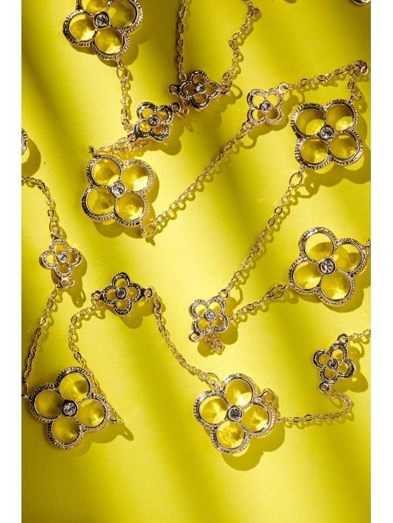 Colier Letizia cu accesoriu auriu #4