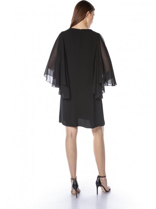 Rochie Kimono din crep cu voal #3