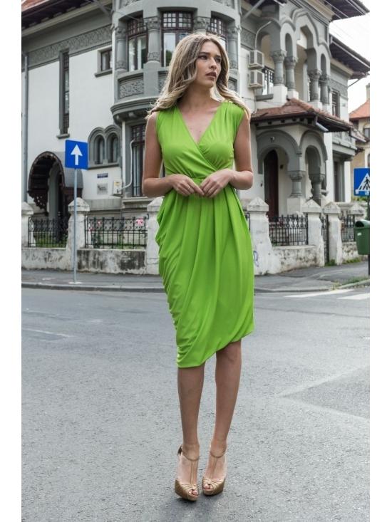 Rochie Annie midi verde #2