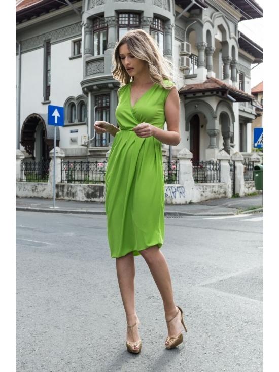 Rochie Annie midi verde #3