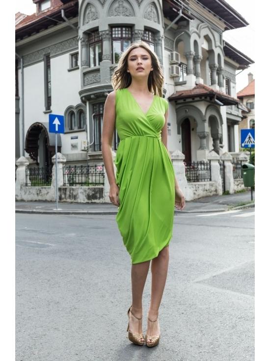Rochie Annie midi verde