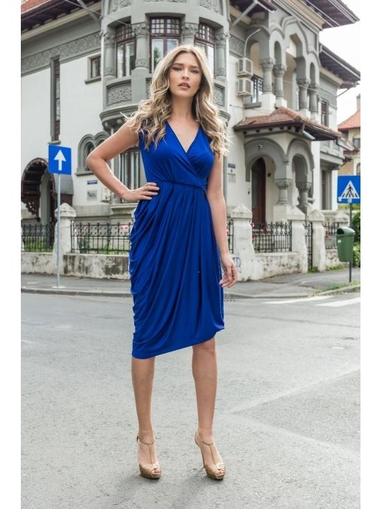 Rochie Annie midi albastra #2