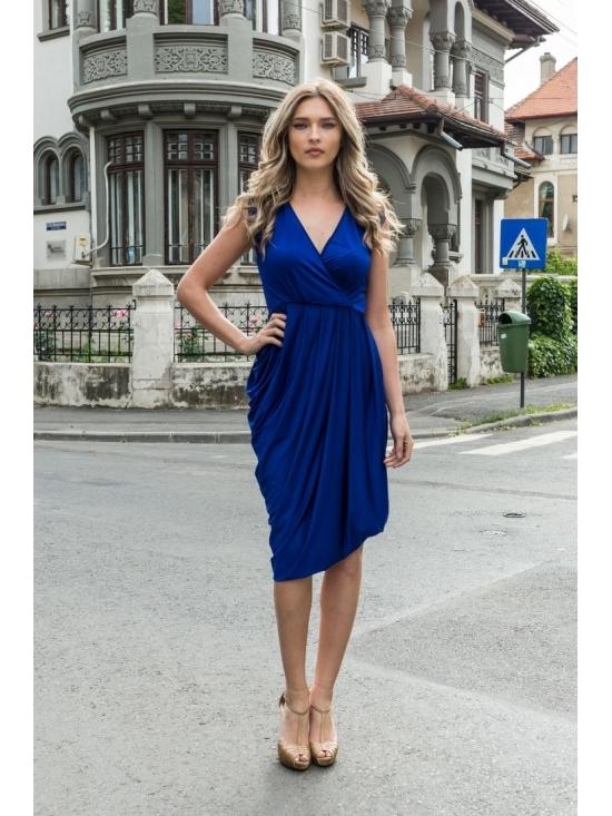 Rochie Annie midi albastra