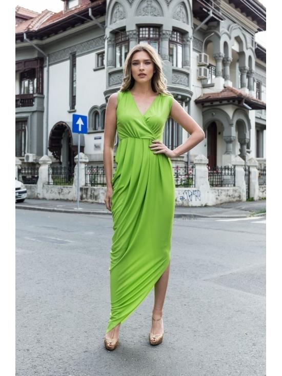 Rochie Annie maxi verde #3