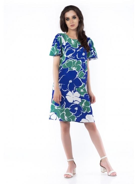Rochie Florina verde imprimata