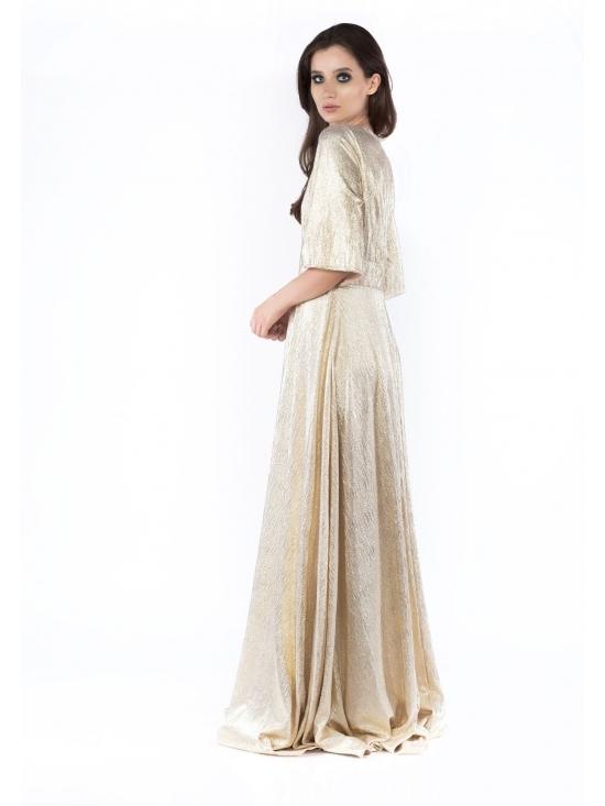 Rochie Uma din lurex auriu #2