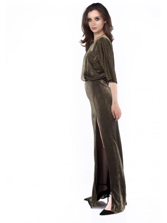 Rochie Irisa din lurex auriu #2