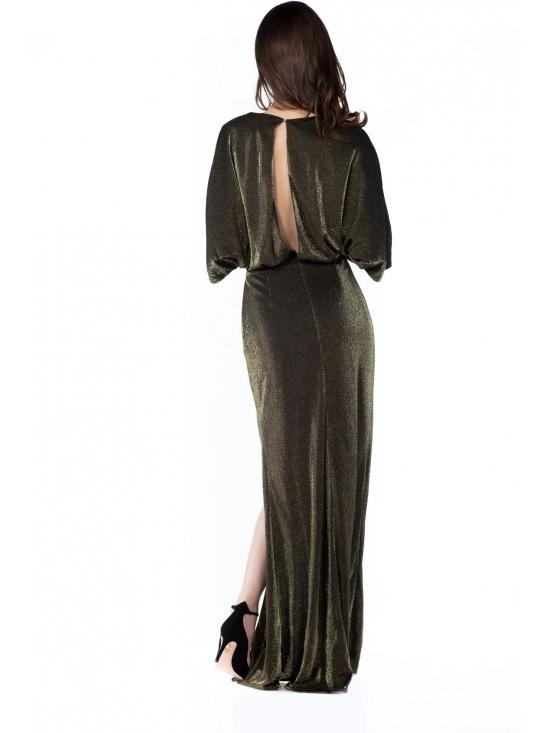 Rochie Irisa din lurex auriu #3