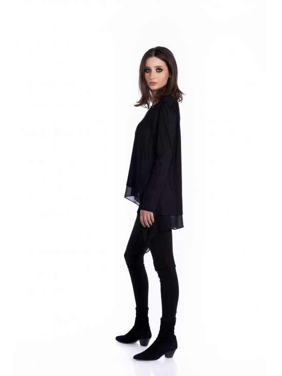 Bluza Valeria neagra din jerse vascoza 100% #2