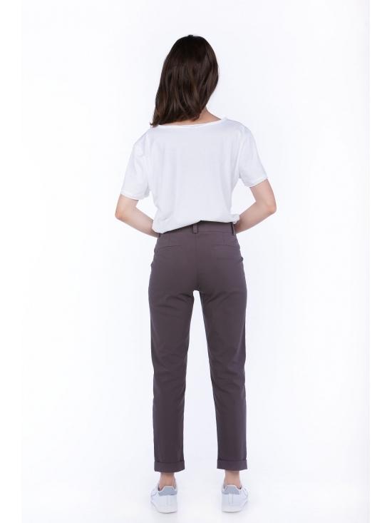 Pantalon Day gri din bumbac 60% #2