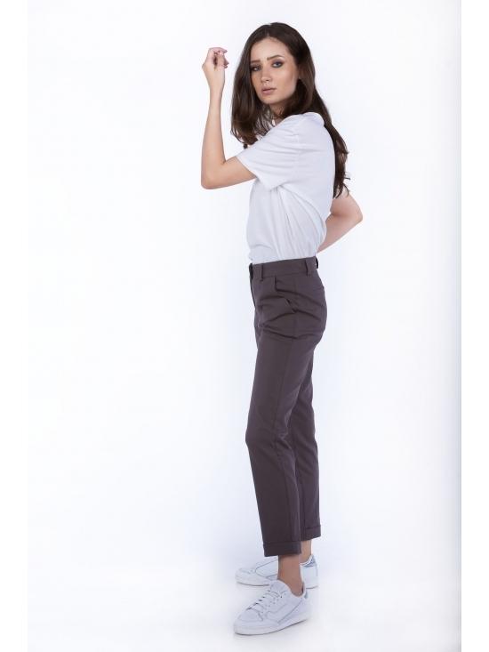 Pantalon Day gri din bumbac 60% #3