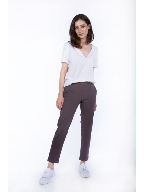 Pantalon Day gri din bumbac 60%