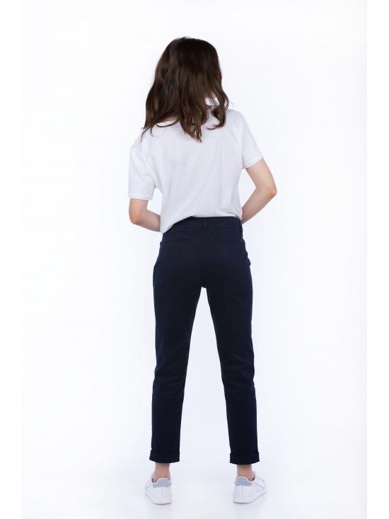Pantalon Day bleumarin din bumbac 100% #3