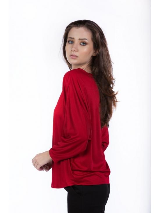 Bluza Ada rosie din vascoza 100% #2