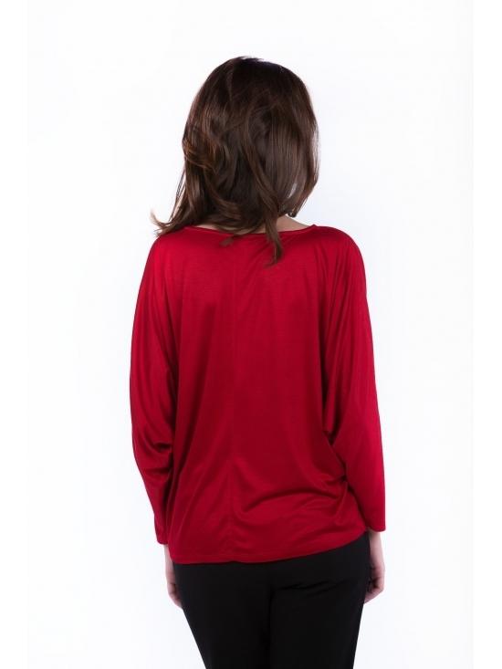 Bluza Ada rosie din vascoza 100% #3