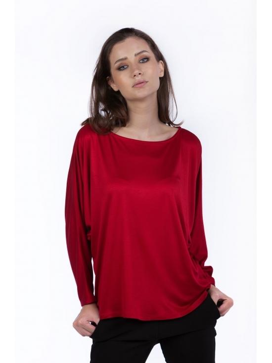 Bluza Ada rosie din vascoza 100%