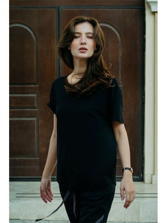 Bluza Diana neagra din jerse