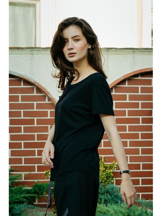 Bluza Diana neagra din jerse #2