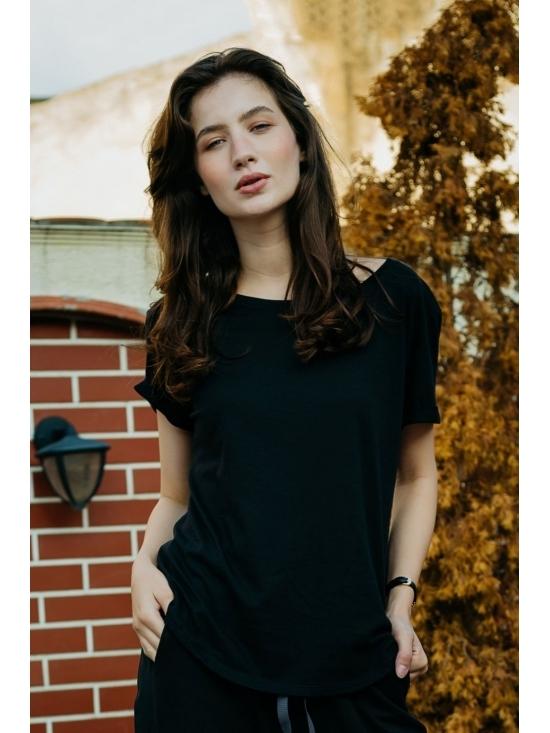 Bluza Diana neagra din jerse #3