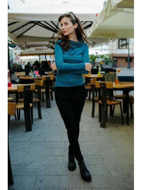 Bluza Diana albastra din jerse #3