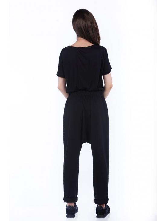 Pantalon Sultana din bumbac 100% cu plasa neagra fagure #4