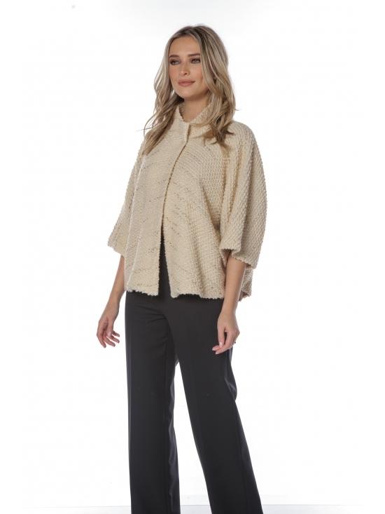 Jacheta Mary-Ann din jacquard de lana cu lurex