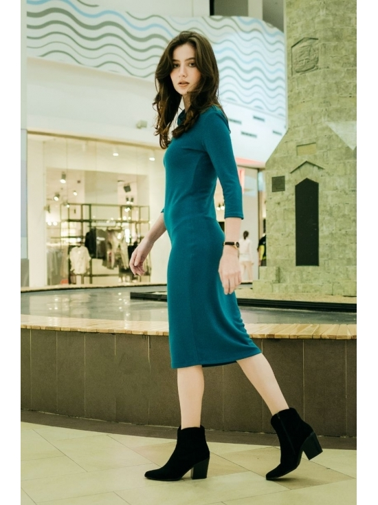 Rochie Ella tricotata albastra #3
