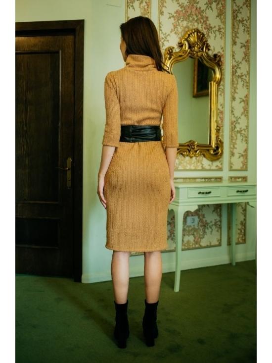 Rochie Ella tricotata spic de grau caramel #6