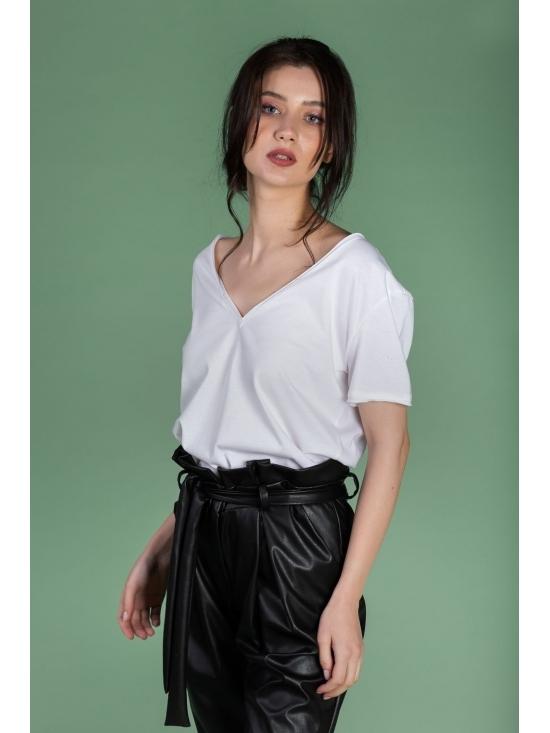 Tricou Leti alb din bumbac 100% #2