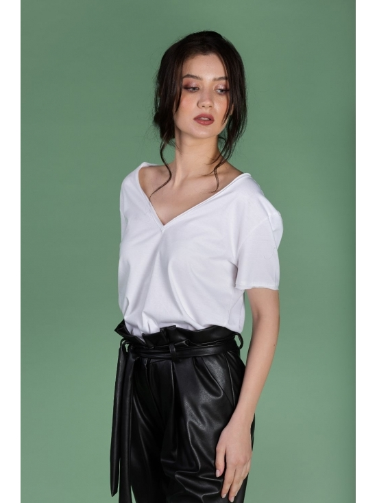 Tricou Leti alb din bumbac 100% #3