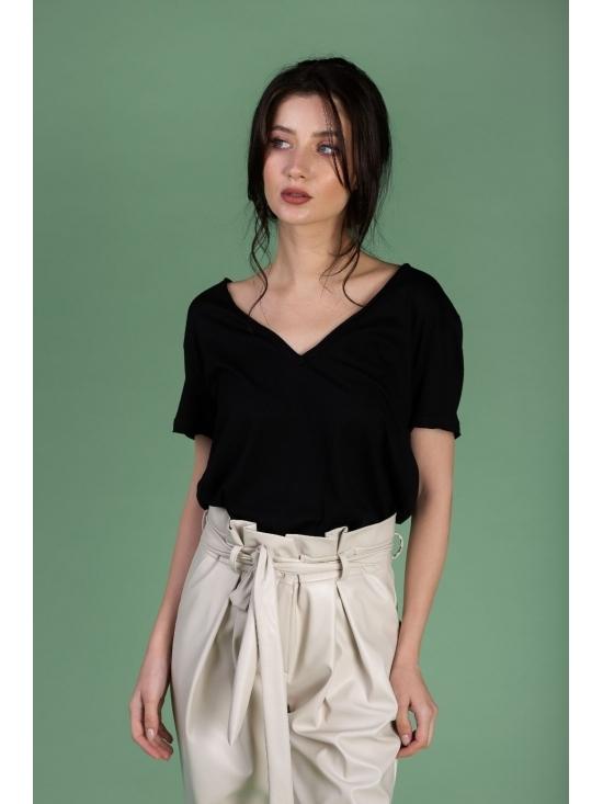 Tricou Leti negru din bumbac 100% #3