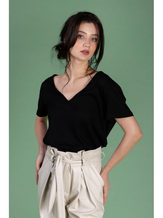 Tricou Leti negru din bumbac 100%
