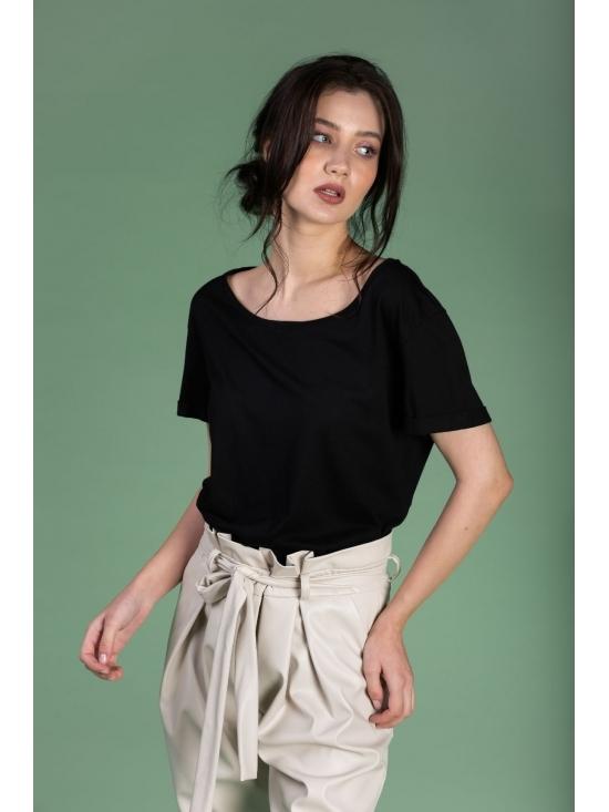 Tricou Ema negru din bumbac 100% #3