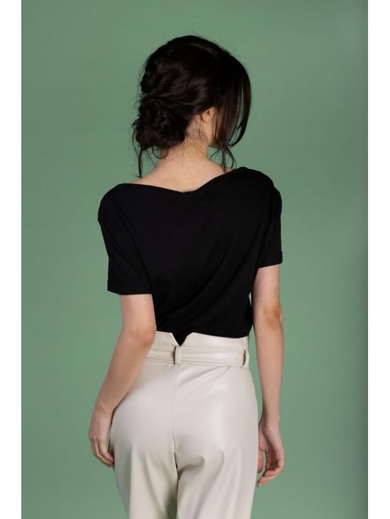 Tricou Ema negru din bumbac 100% #4