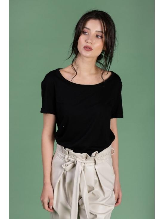 Tricou Ema negru din bumbac 100%