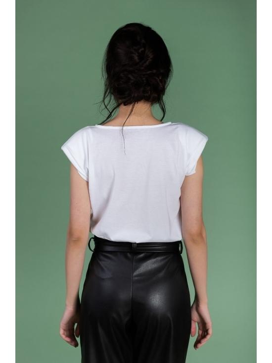 Pantalon Eve negru din piele ecologica #3