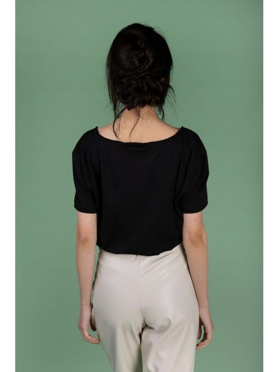 Pantalon Eve alb din piele ecologica #3