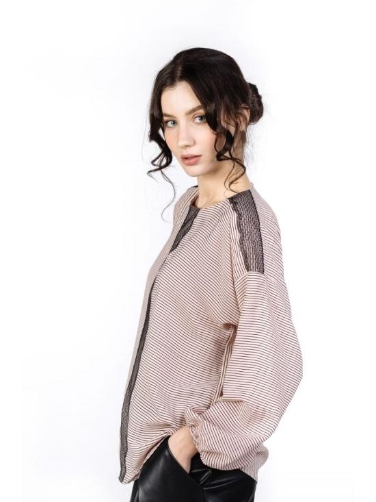 Bluza Odessa roz pudrat din vascoza 100% #2