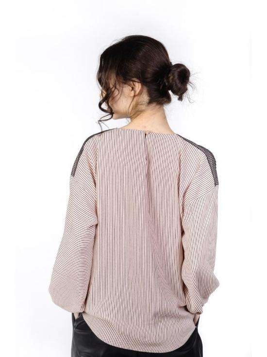 Bluza Odessa roz pudrat din vascoza 100% #3