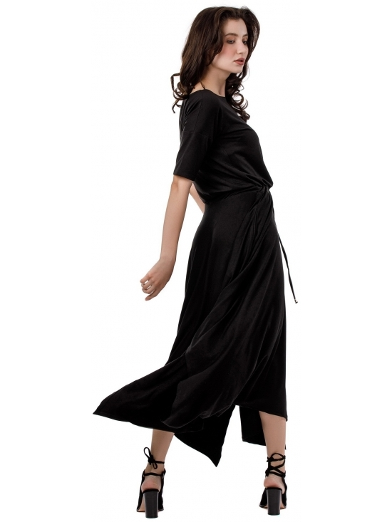 Rochie Krissy neagra din jerse vascoza 100% #5