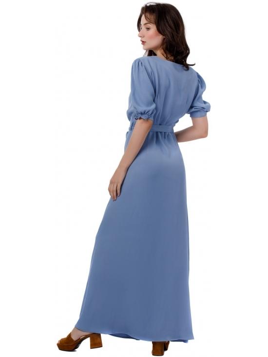 Rochie Nina maxi bleu din vascoza 100% #6