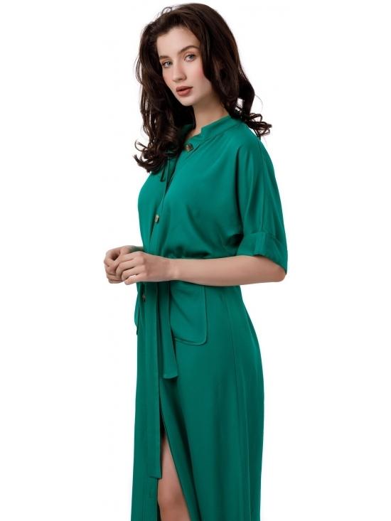 Rochie Lexi verde lunga din vascoza 100% #5