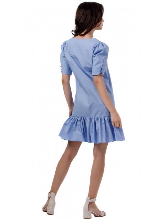 Rochie Bijou bleu din poplin bumbac 100% #3